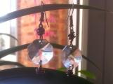 BOUCLES D'OREILLES ◊Illustre◊ Verre taillé d'un lustre ancien ___ Cuivre ___ Crochet Nickel Free ___ 8€